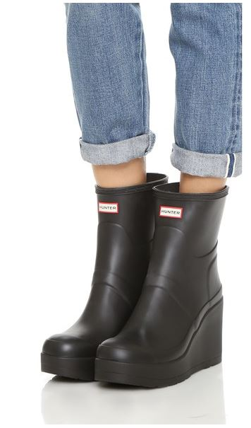 Hunter Wedge Rubber Rain Ankle Boots - Shopping and Info