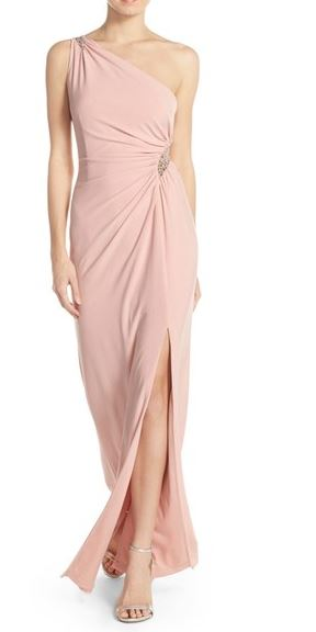Adriana-Papell-One-Shoulder-Gown