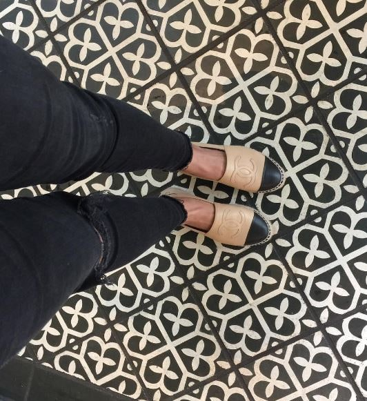 chanel espadrilles and distressed denim by Shopping and Info