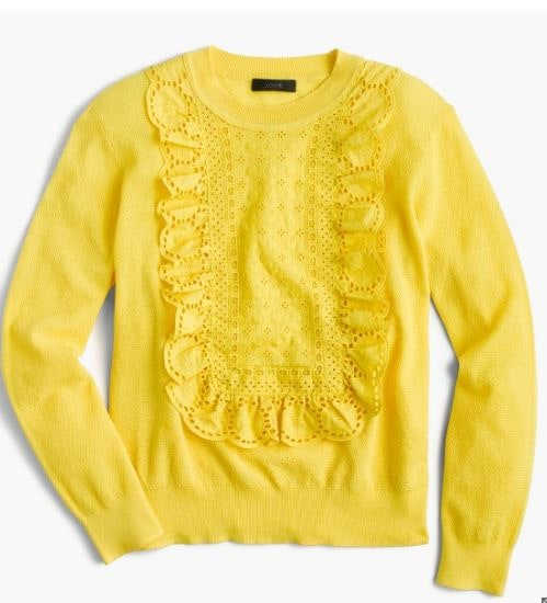 Yellow-eyelet-sweater