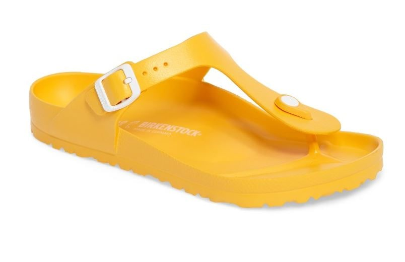 Birkenstock yellow jelly sandals