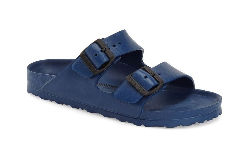 Birkenstock navy jelly sandals