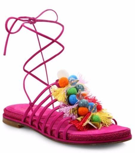 Pom Pom Pink Sandals