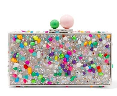 Sophia Webster glitter clutch