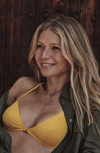 Gwyneth Paltrow yellow bikini photoshoot