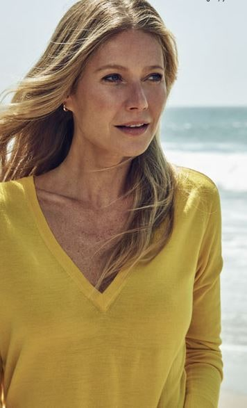 Gwyneth Paltrow Yellow sweater