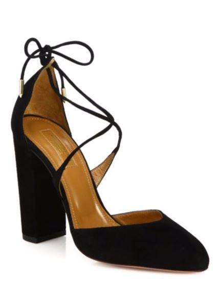 Aquazzura black suede shoes on sale