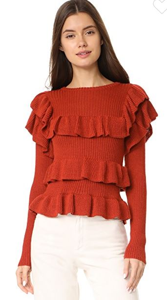Ulla Johnson Mabel Ruffle sweater sale