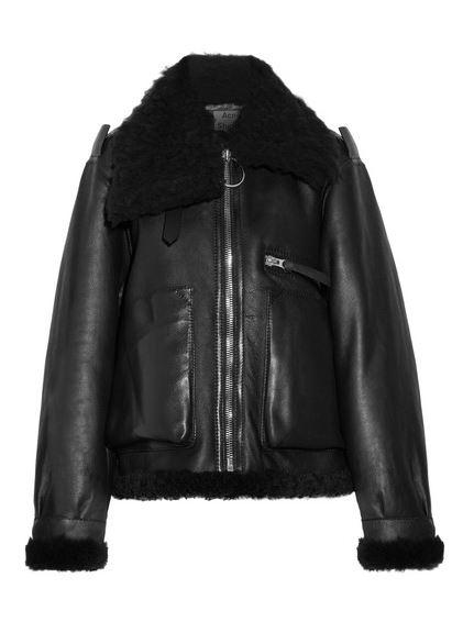 Acne Studios Aviator shearling jacket sale