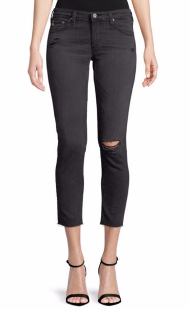 My Favorite Ag Distressed Black Jeans On Sale Shopping