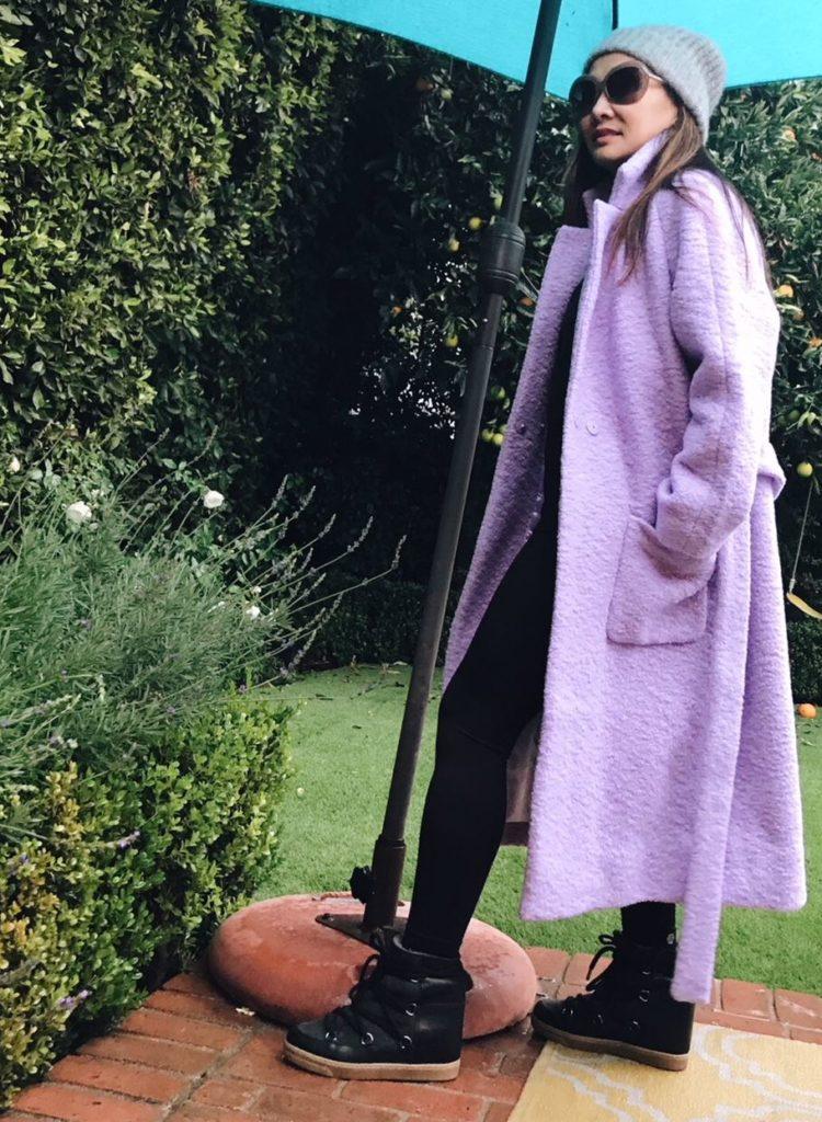 Ganni Lilac Coat