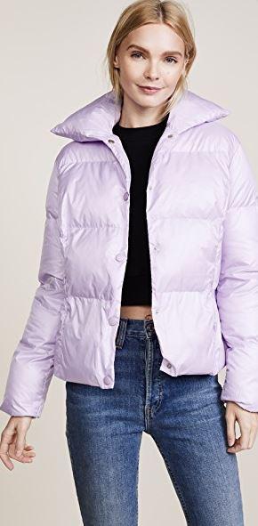 Lioness lilac lavender purple puffer jacket