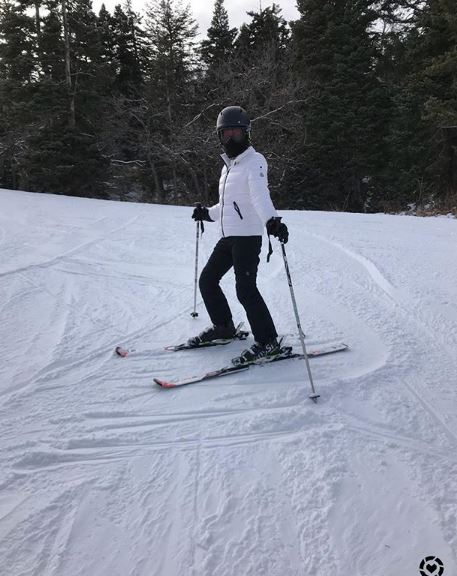Moncler ski jacket for ski trip to Park City