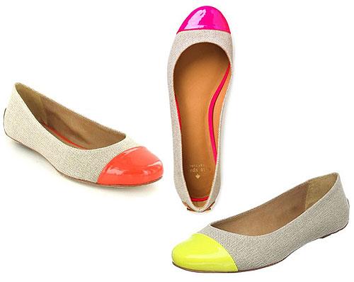 Neon Flats Shoes