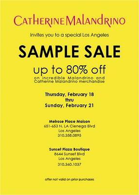 Catherine Malandrino Sample Sale | ShoppingandInfo.com