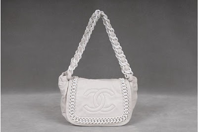 Chanel white lambskin leather bag  7691d111dc12