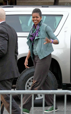 Michelle Obama Lanvin Shoes Sneakers