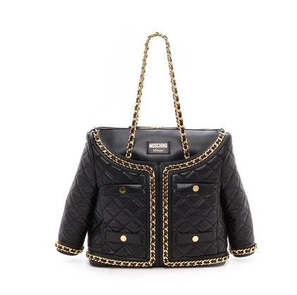 Moschino chanel quilted bag jacket Moschino Quilted Leather Jacket Bag   TOO AWESOME