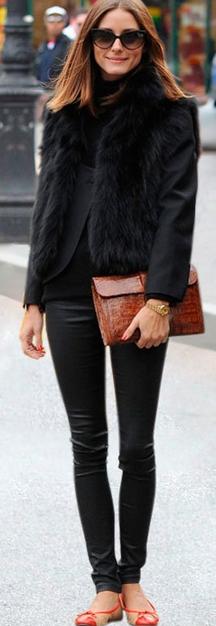 Olivia Palermo Faux Fur vest Faux Fur Coats Trends for Fall