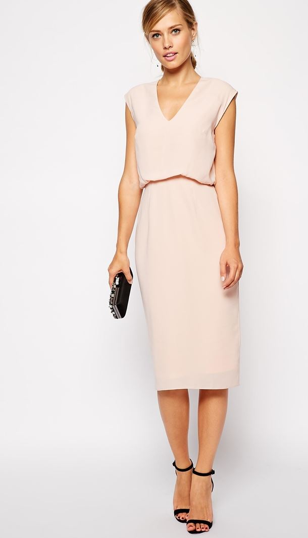 Asos Blush Pink Dress Asos Blush Pink Blouson Dress