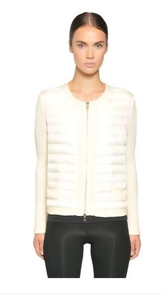 Moncler Cotton Crochet jacket1 Moncler Crochet Sleeve Down Jacket for Spring