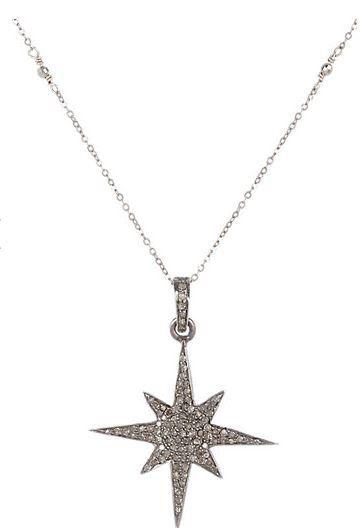 Feathered Soul Diamond Starburst necklace Feathered Soul Diamond Starburst Pendant Necklace