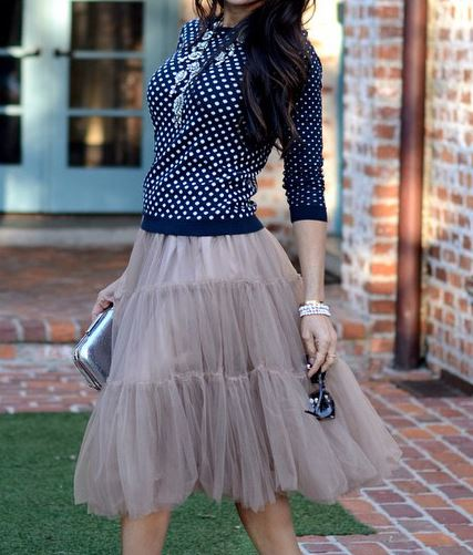 Tulle Skirt Amore Tulle Midi Skirt for Weddings