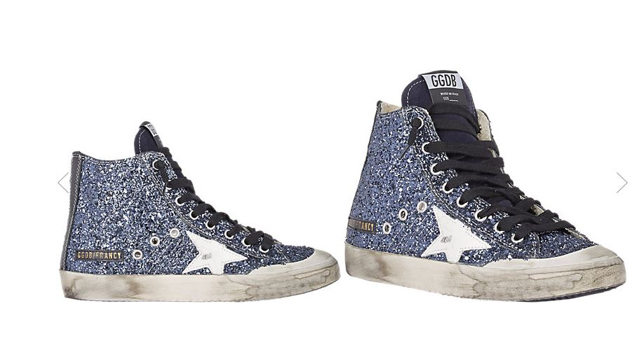 Golden-Goose-Deluxe-Brand-Glitter-blue-high-top-sneakers