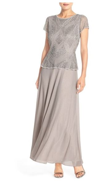 Pisarro-nights-embellished-mesh-chiffon-gown