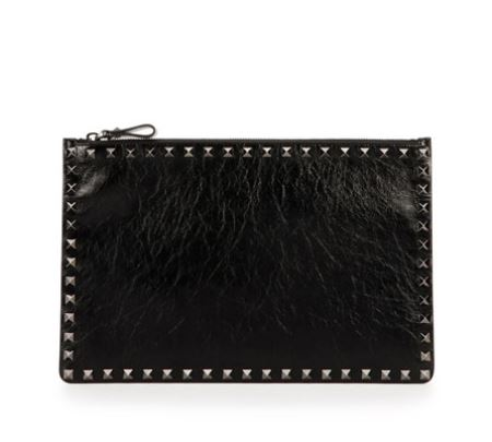 Valentino-Rockstud-Leather-Pouch