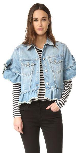 msgm-ruffle-denim-jacket